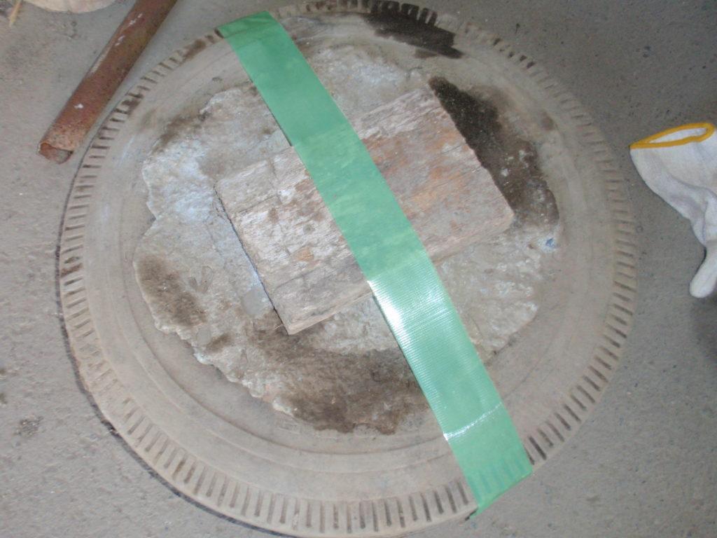 物干し台修理コンクリート加工