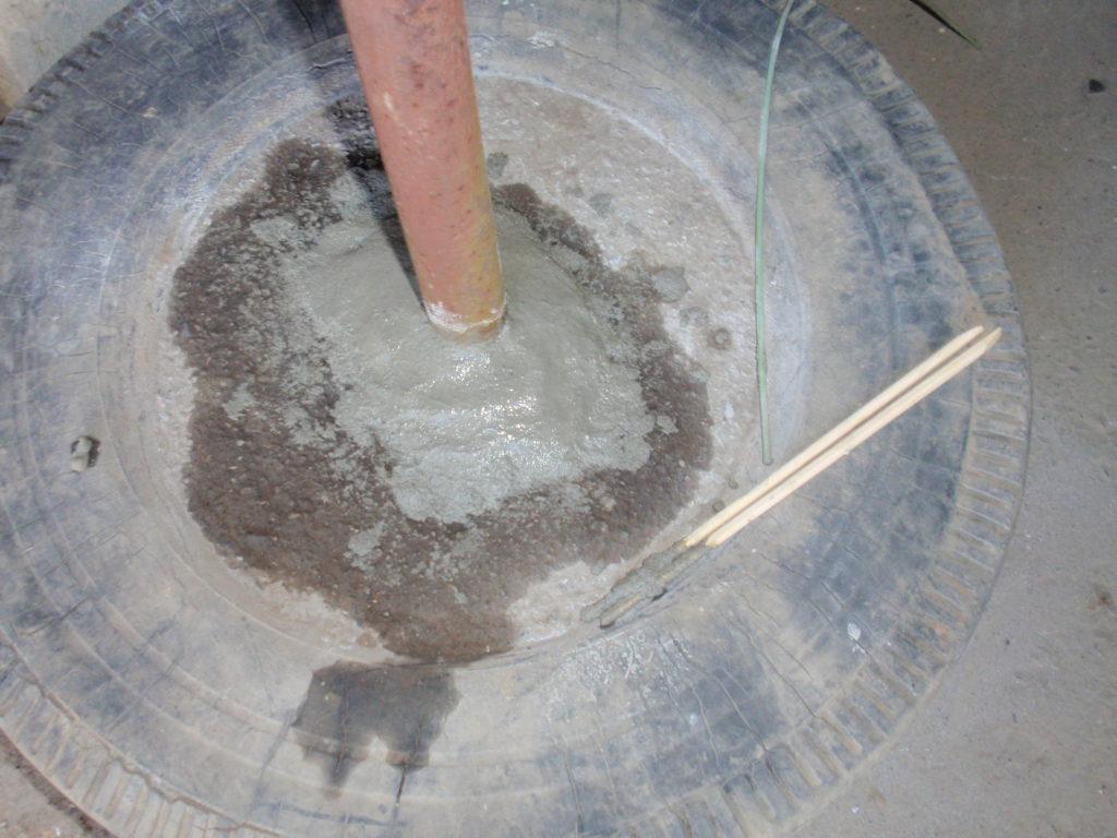 物干し台修理コンクリート