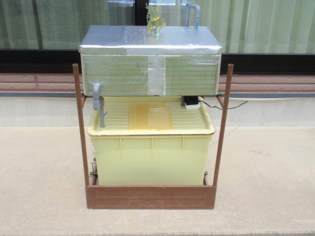 循環式2層水耕栽培装置完成