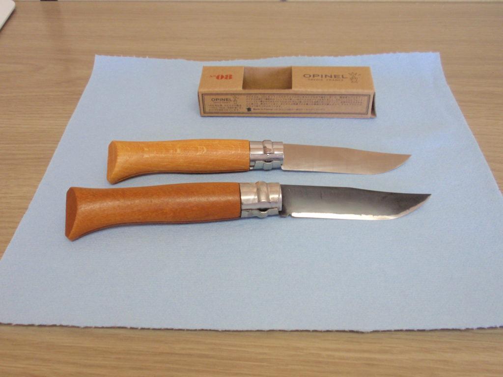 オピネルのナイフ 新旧比較