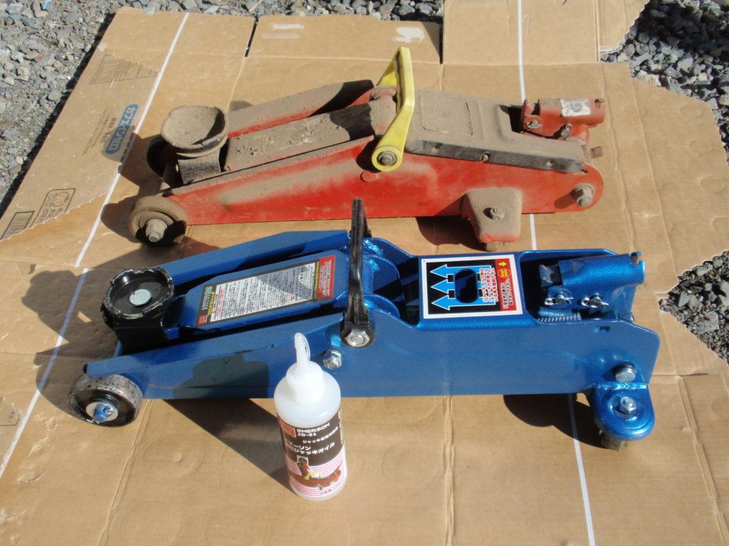 ガレージジャッキ(油圧ジャッキ)修理前