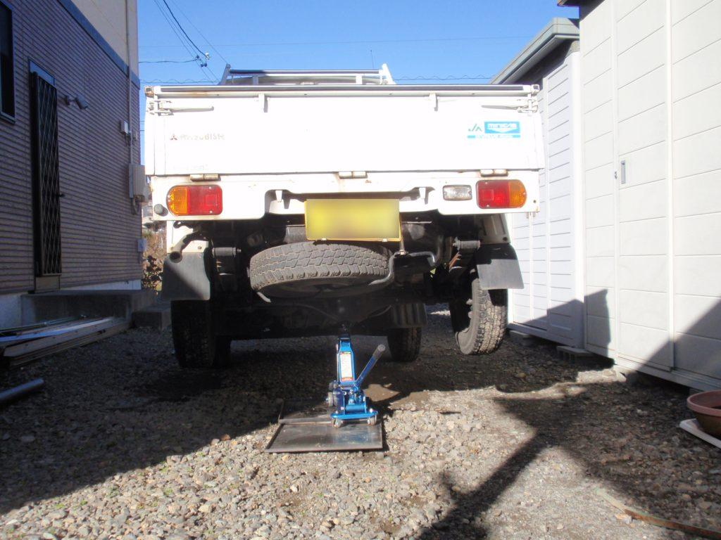 ガレージジャッキ(油圧ジャッキ)修理後動作確認