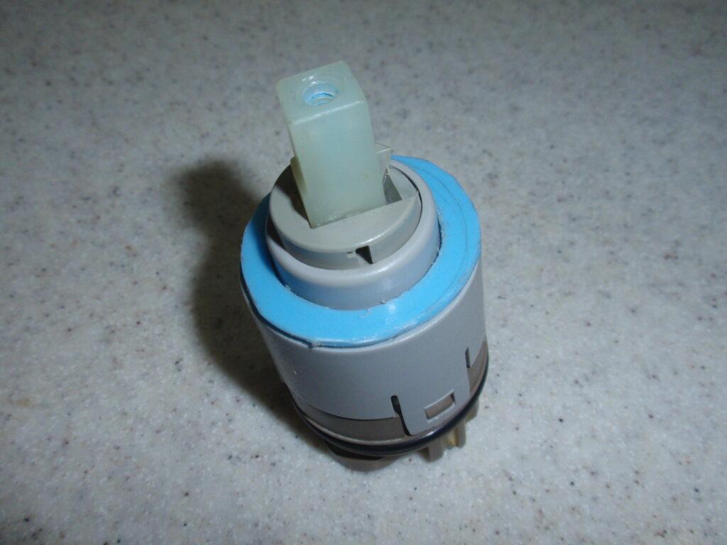 混合水栓修理 自作スペーサー