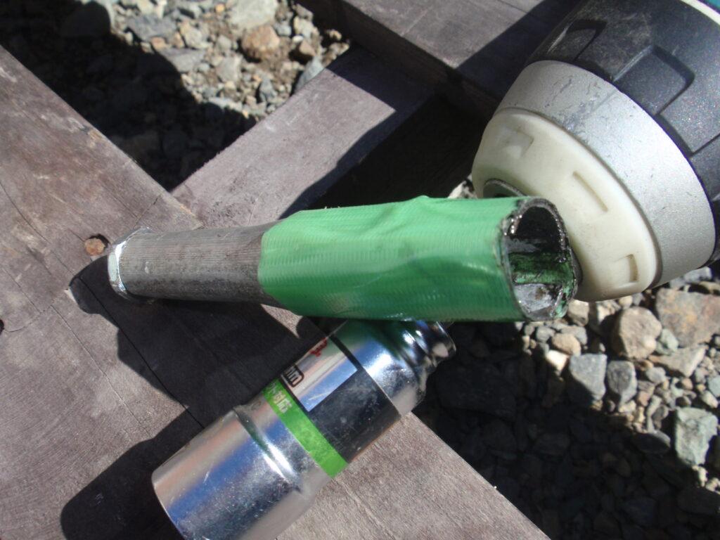 芝刈り機刃の研磨 DIYで自作した治具2