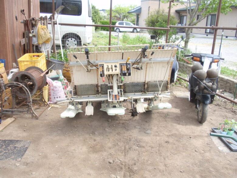 イセキの田植機の傾き修理