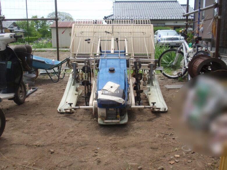 イセキの田植機の修理