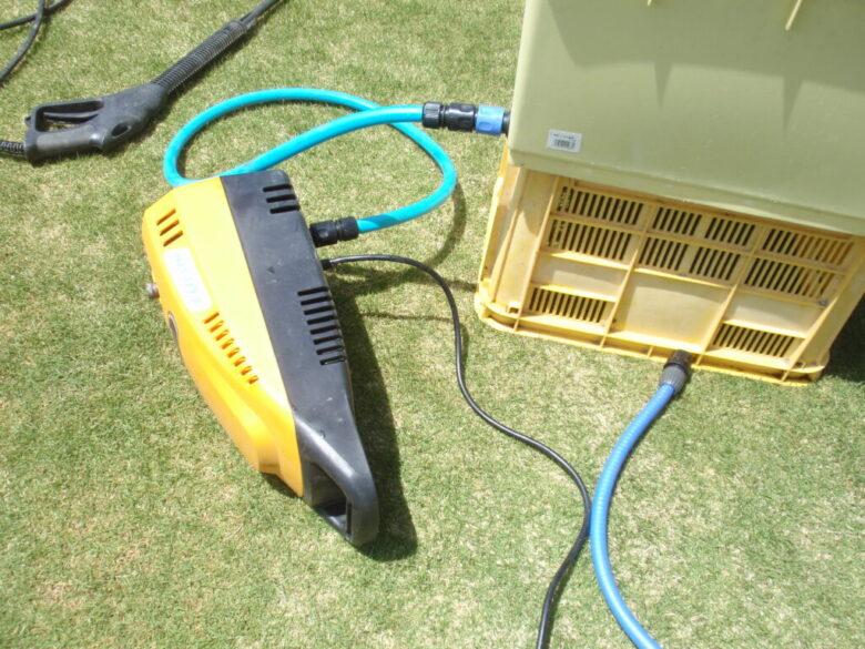 高圧洗浄機本体の空気抜き