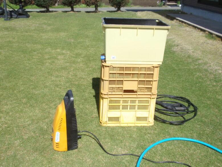 高圧洗浄機を水道直結できない場所で使う方法 手順1