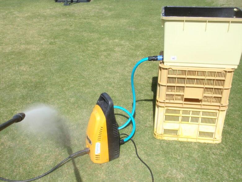 高圧洗浄機を水道直結できない場所で使う方法 手順5