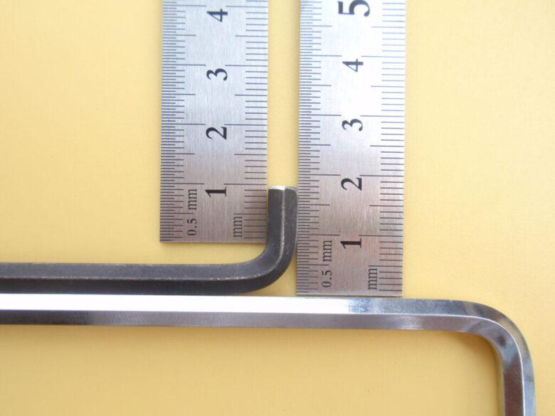 ダイソーの六角レンチを追加工してショートヘッドの六角棒レンチ完成。