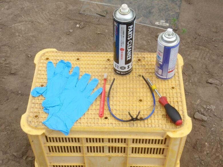 刈払い機(草刈り機)のキャブレターの分解・掃除・調整に必要な道具